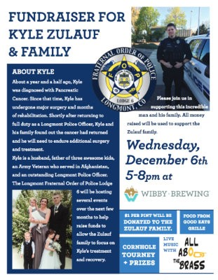 Reminder: Wibby Brewing Fundraiser this Wednesday 12/6 @ 5pm