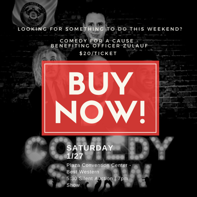 The Longmont FOP Benefit Comedy Show is THIS weekend!